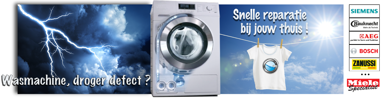wasmachine en droogkast repareren bij uw thuis
